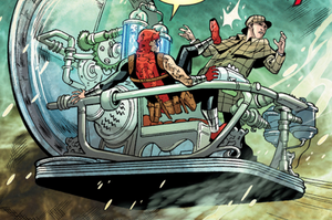 H.G. Wells' Time Machine (Ideaverse) from Deadpool Killustrated Vol 1 4 001.png