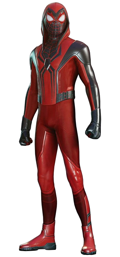 Crimson Cowl Suit from Marvel's Spider-Man Miles Morales 001.png
