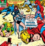 Avengers (Earth-616) and Lady Liberators (Earth-616) from Avengers Vol 1 83 cover 001