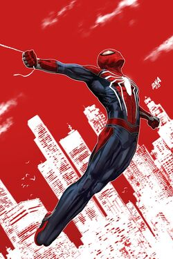 Spider-Geddon Vol 1 1 PS4 Spider-Man Variant Textless.jpg