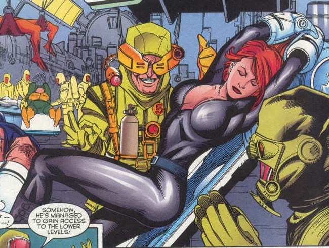 Heather McNeil (Earth-616) and Advanced Idea Mechanics (Earth-616) from Wolverine Vol 2 142 001.jpg