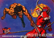 Arkady Rossovich (Earth-616) and James Howlett (Earth-616) from Ultra X-Men (Trading Cards) 1995 Set 001