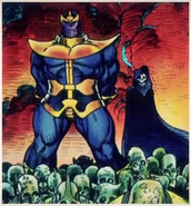 Thanos (Earth-616) and Death (Earth-616) from Cosmic Powers Unlimited Vol 1 1