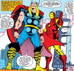 Thor Odinson (Earth-616) and Anthony Stark (Earth-616) from Thor Vol 1 317 001.jpg
