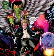 Lyja (Earth-616) and Franklin Richards (Earth-616) from Secret Invasion Fantastic Four Vol 1 3 001.jpg