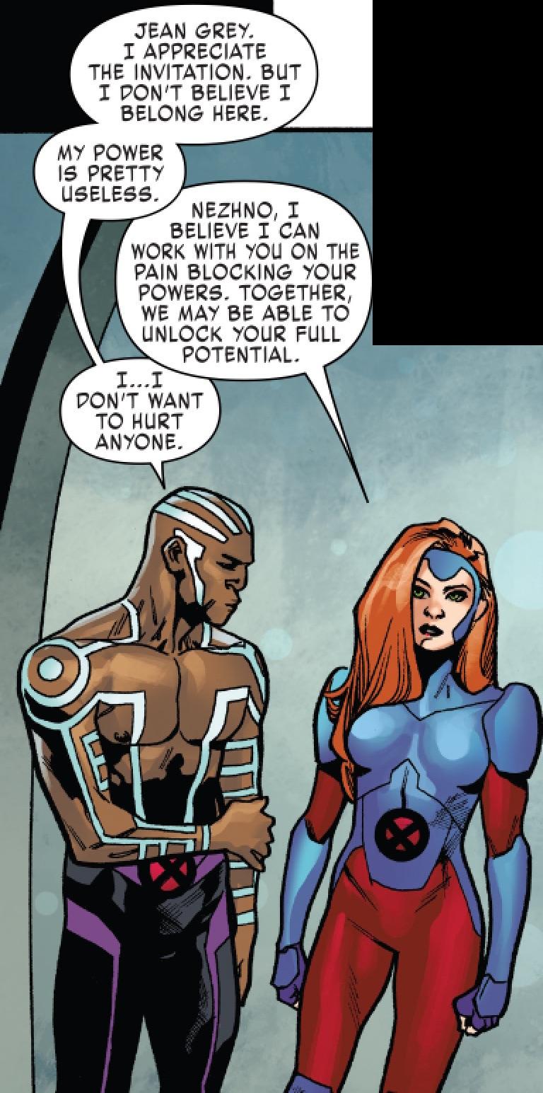 Nezhno Abidemi (Earth-616) and Jean Grey (Earth-616) from X-Men Red Vol 1 4 001.jpg