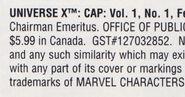 Universe X Cap Vol 1 1 Indicia