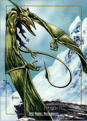 Karl Lykos (Earth-616) from Marvel Masterpieces Trading Cards 1992 0001.jpg