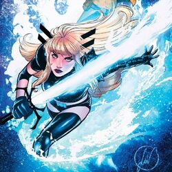 Illyana Rasputina (Earth-616) and Soulsword from New Mutants Vol 4 13 Unknown Comic Books Exclusive Variant.jpg