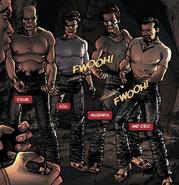 Orji Jones (Earth-616), Ogun Strong (Earth-616), Musenda (Earth-616), and Azu M'Dammen (Earth-616) from Blade Vol 4 11 001