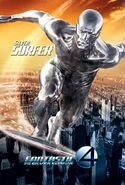 Fantastic Four Rise of the Silver Surfer (film) poster Silver Surfer 2