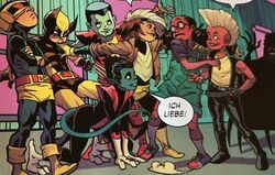 Moon Girl (Earth-616) and X-Babies (Mojoverse) from Moon Girl and Devil Dinosaur Vol 1 24.jpg