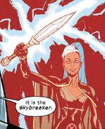 Ororo Munroe (Earth-616) and Skybreaker (Sword) from Marauders Vol 1 13 001