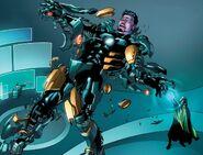 Anthony Stark (Earth-616) vs. Victor von Doom (Earth-TRN363) from Iron Man Fatal Frontier Infinite Comic Vol 1 8