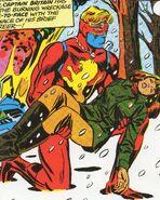 Brian Braddock (Earth-616) and Elizabeth Braddock (Earth-616) from Captain Britain Vol 1 9 0001