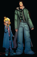 Layla Miller (Earth-616) and James Madrox (Earth-616) from New X-Men Vol 2 44 001
