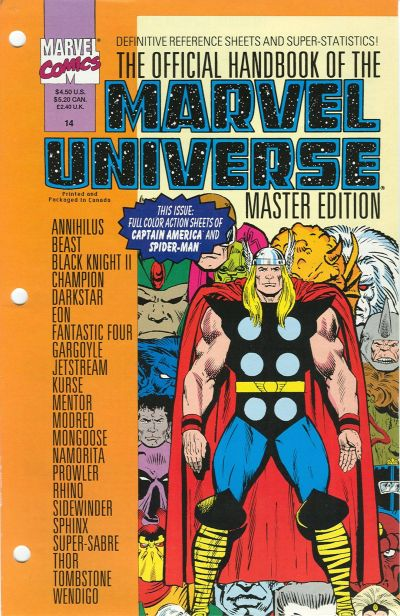 Official Handbook of the Marvel Universe Master Edition Vol 1 14