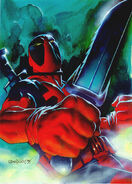 Wade Wilson (Earth-616) from Marvel Masterpieces (Trading Cards) 1995 001