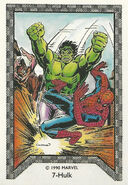 Bruce Banner (Earth-616) and Peter Parker (Earth-616) from Spider-Man Team-Up (Trading Cards) 001