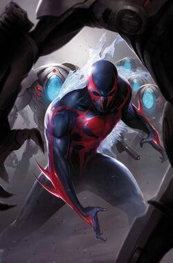 Spider-Man 2099 Vol 2 3 Textless.jpg