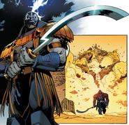 En Sabah Nur (Earth-616) and Scarab (Sword) from X-Men Vol 5 13 001