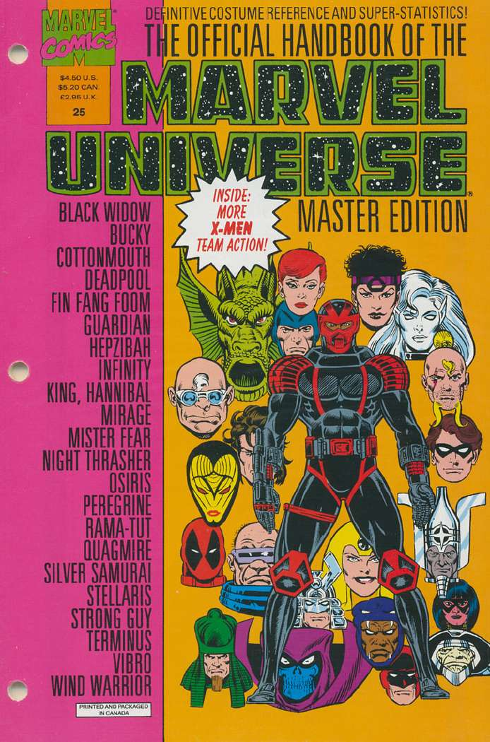 Official Handbook of the Marvel Universe Master Edition Vol 1 25