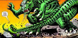 Droom battling the Hulk