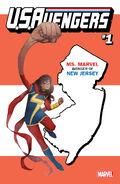 U.S.Avengers Vol 1 1 New Jersey Variant