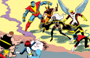 X-Men (Earth-616) and Brotherhood of Evil Mutants (Earth-616) from X-Men Vol 1 1 001
