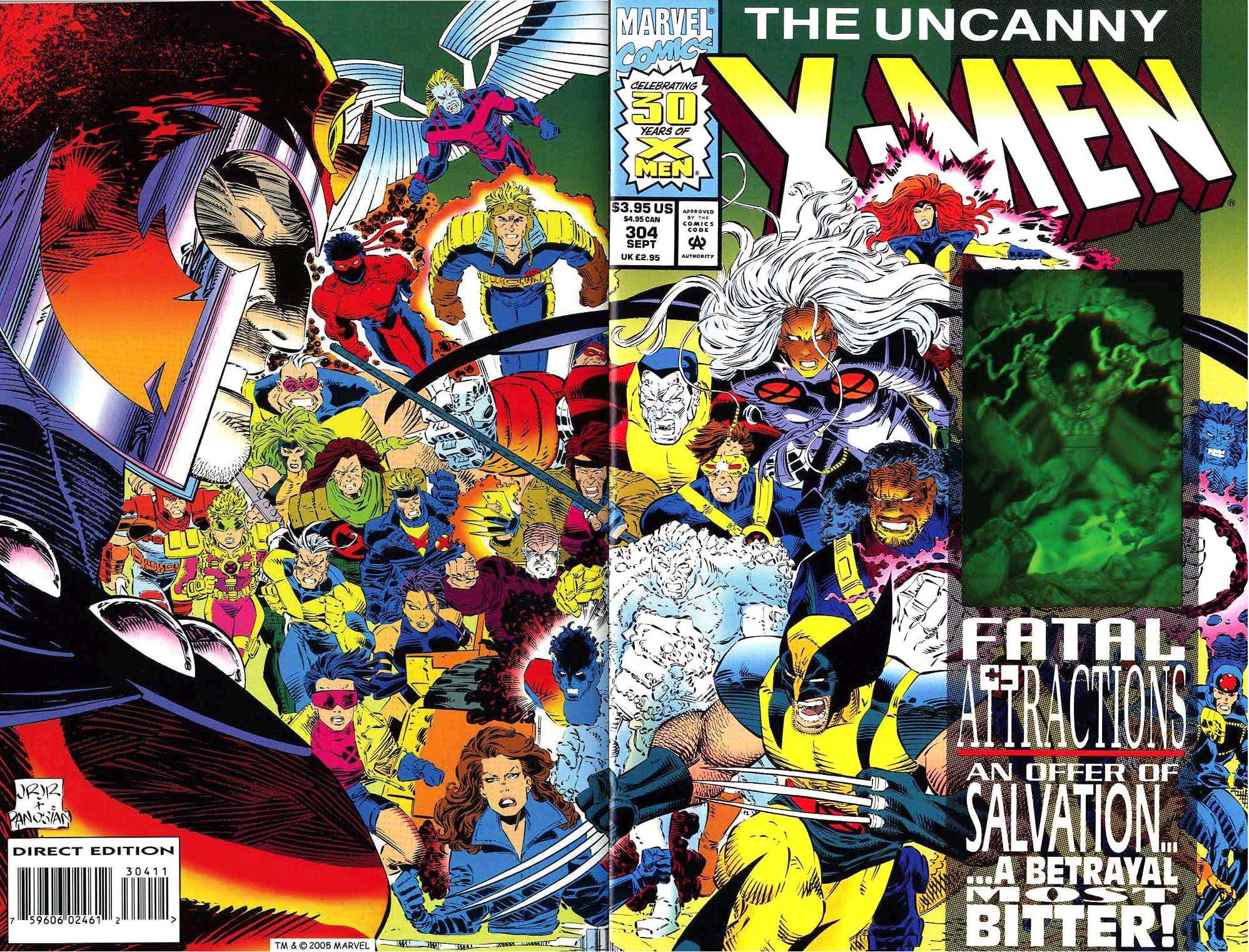 Uncanny X-Men Vol 1 304 Wraparound Cover.jpg