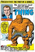 Benjamin Grimm (Earth-616) from Fantastic Four Vol 1 2 001