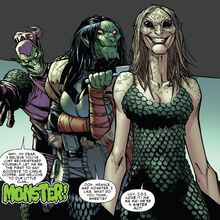Carlie Cooper (Earth-616), Lily Hollister (Earth-616) and Norman Osborn from Superior Spider-Man Vol 1 25 001.jpg