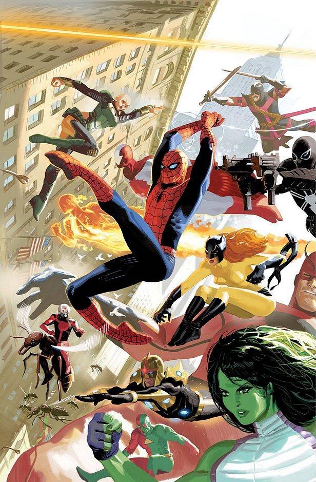 Avengers Vol 5 3 50 Years of Avengers Variant Textless.jpg