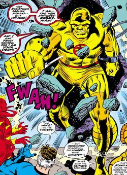 Benjamin Grimm, Doomsman II, Fantastic Four Jonathan Storm, Medusalith Amaquelin Reed Richards (Earth-616) from Fantastic Four Vol 1 157.jpg