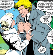 Brian Braddock (Earth-616) and Courtney Ross (Earth-616) from Excalibur Vol 1 3 0001