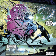 T'Challa (Earth-616) slaying Swordsman (Cotati) (Earth-616) with the Excelsior (Star-Sword) from Empyre Vol 1 6 001