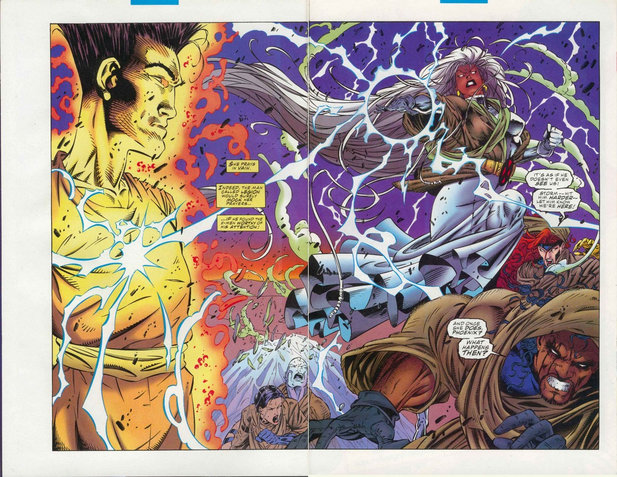 David Haller (Earth-616) vs. the X-Men (Earth-616) from Uncanny X-Men Vol 1 320 0001.jpg