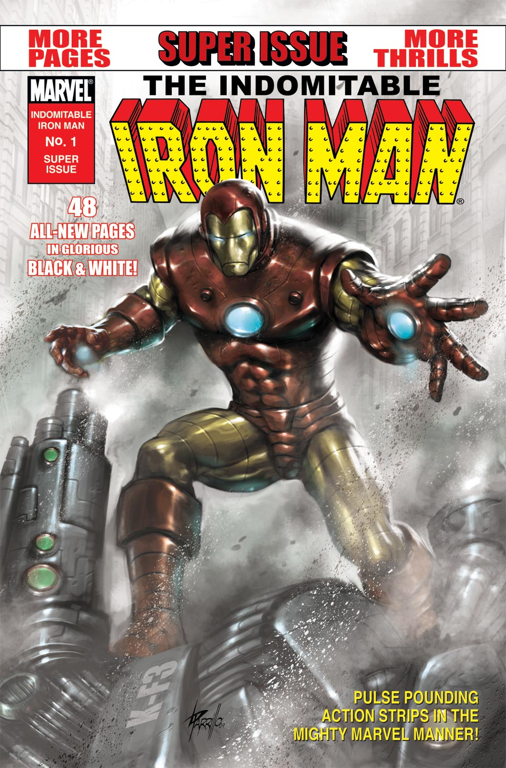 Indomitable Iron Man (B&W) Vol 1 1