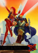 Jean Grey (Earth-616) and Scott Summers (Earth-616) from Ultra X-Men (Trading Cards) 1995 Set 0001