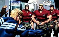 Steven Rogers (Earth-616) and Guardsman Super-Soldiers (Earth-616) from Steve Rogers Super-Soldier Vol 1 1 001.jpg