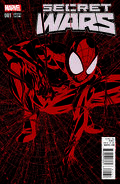 Secret Wars Vol 1 1 Mike McKone All-Red Variant