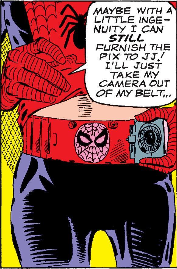 Spider-Man's Belt Camera
