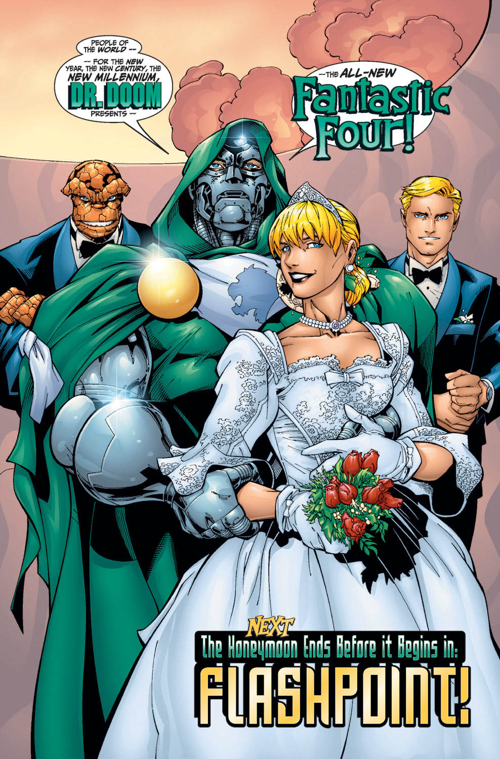 Susan Storm (Earth-616) marries Doctor Doom (secretly Reed Richards (Earth-616)) from Fantastic Four Vol 3 27 001.jpg