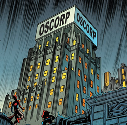 Oscorp (Earth-22916) from Web Warriors Vol 1 8.png