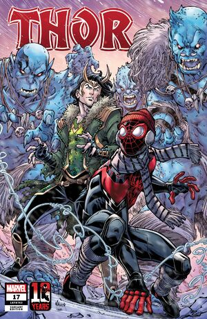 Thor Vol 6 17 Miles Morales Spider-Man 10th Anniversary Variant.jpg