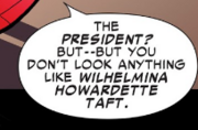 Wilhelmina Howardette Taft (Earth-TRN454) Mentioned in Ultimate Spider-Man Infinite Comic Vol 2 9.png