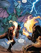 James Howlett (Earth-616) and War (First Horsemen) (Earth-616) from Wolverine Vol 7 7 002