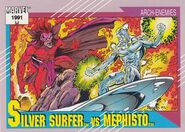 Norrin Radd vs. Mephisto (Earth-616) from Marvel Universe Cards Series II 0001