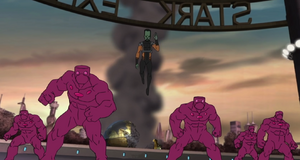 Samuel Sterns (Earth-12041) and Humanoid (Leader) from Marvel's Avengers Assemble 001.png