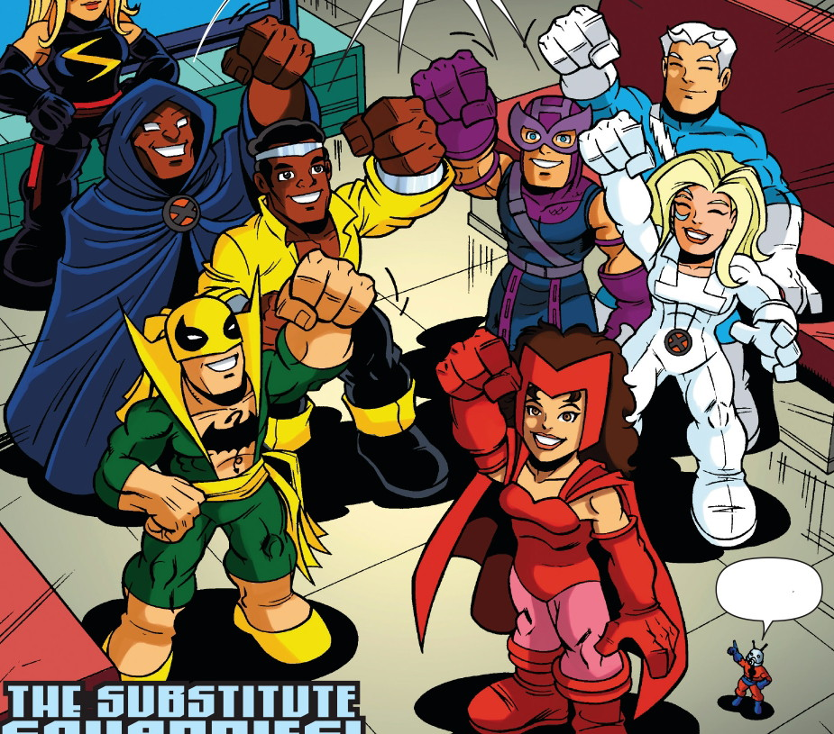 Substitute Squaddies (Earth-11911) from Super Hero Squad Spectacular Vol 1 1 0001.jpg